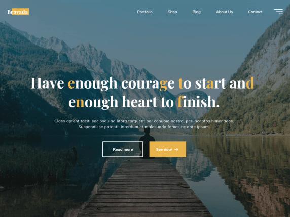 Bravada-top-best-free-stylish-WordPress-themes-EverestThemes