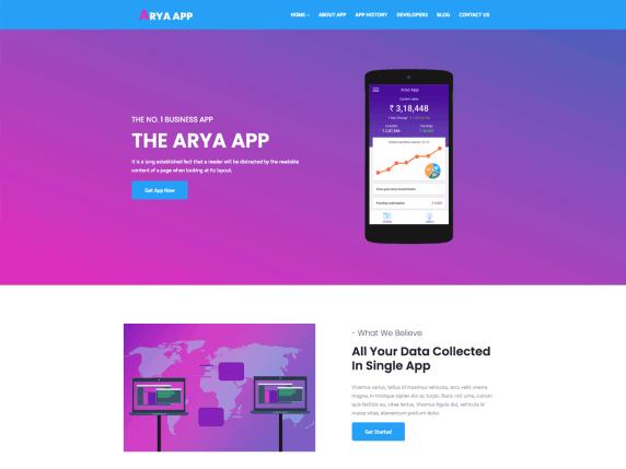 Arya-Multipurpose-top-best-free-elementor-WordPress-themes-EverestThemes