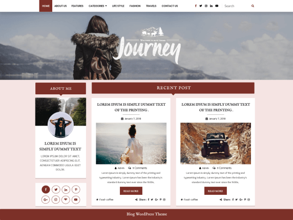 BloggerHub-top-best-free-WordPress-themes-for-Writers-EverestThemes