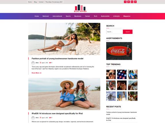 Blogwaves-top-best-free-blog-WordPress-Themes-EverestThemes