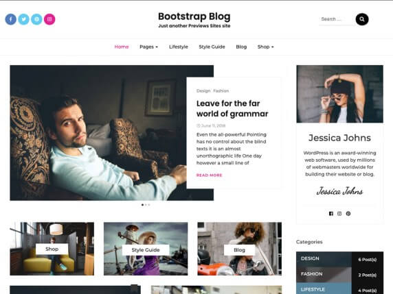 Bootstrap-Blog-best-free-WordPress-themes-for-Writers-EverestThemes