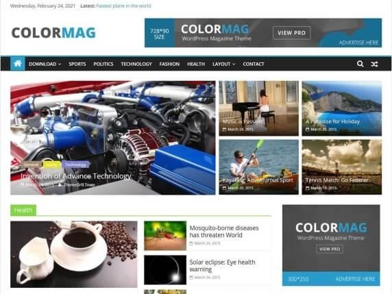 ColorMag-best-free-news-WordPress-themes-EverestThemes