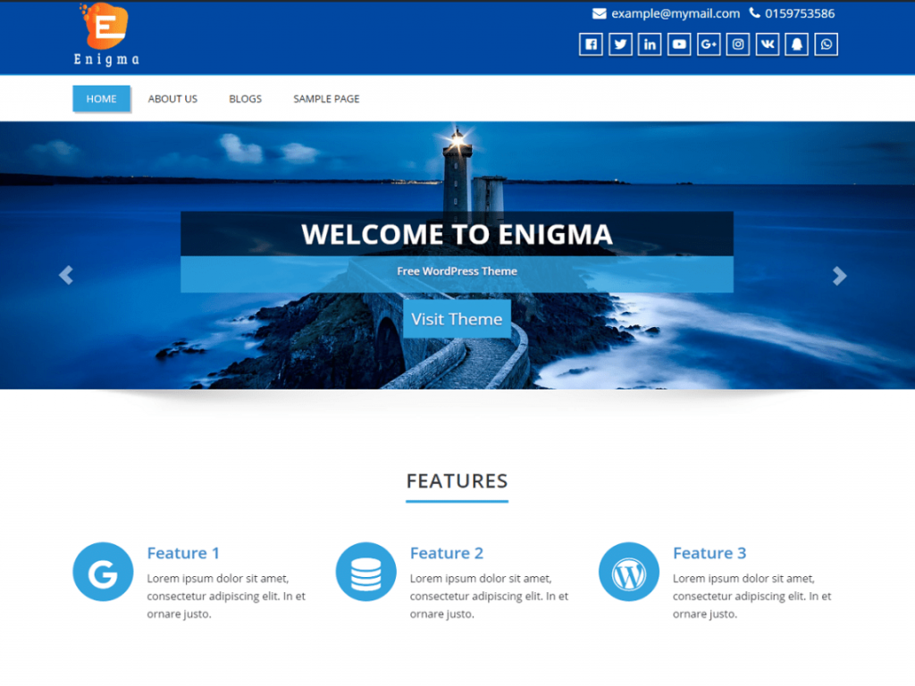 Enigma-best-free-WordPress-themes-for-business-EverestThemes