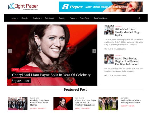 EightPaper-best-free-responsive-WordPress-themes-for-personal-blog-EverestThemes