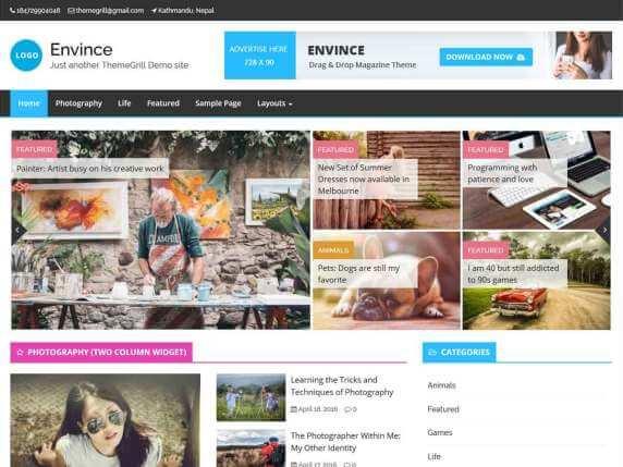 Envince-free-best-news-portal-WordPress-theme-EverestThemes