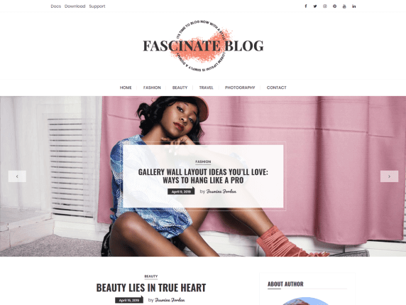 FascinateBlog-best-free-feminine-WordPress-themes-EverestThemes