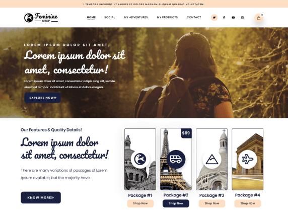 FeminineShop-top-best-free-feminine-WordPress-themes-EverestThemes