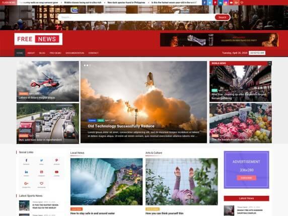 FreeNews-top-best-responsive-WordPress-themes-EverestThemes
