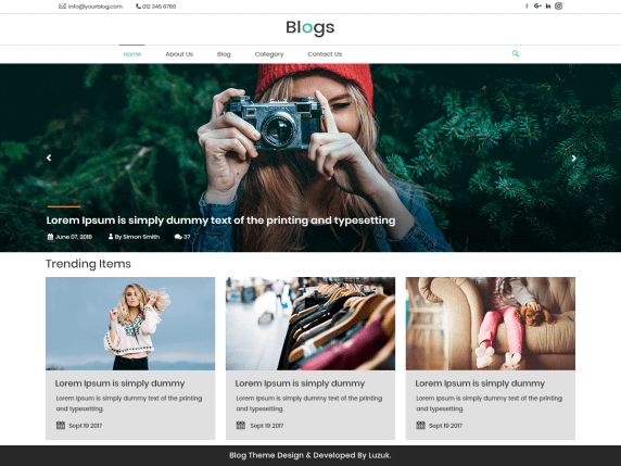 LZ-Real-Blog-best-free-WordPress-themes-for-Writers-EverestThemes
