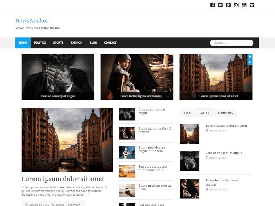 Free WordPress Magazine Themes