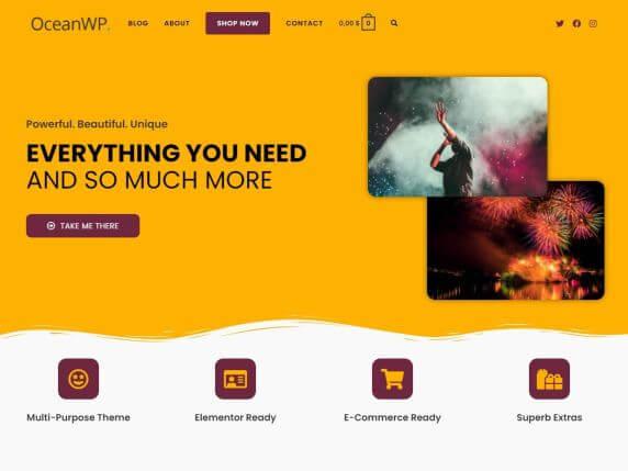 OceanWP-top-best-free-elementor-WordPress-themes-EverestThemes