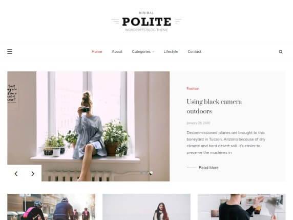 Polite-top-best-free-responsive-blog-WordPress-themes-EverestThemes