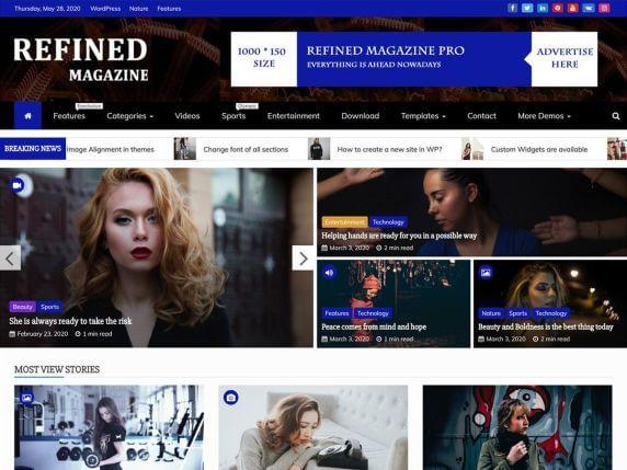 RefinedMagazine-best-top-responsive-free-blog-WordPress-theme-EverestThemes