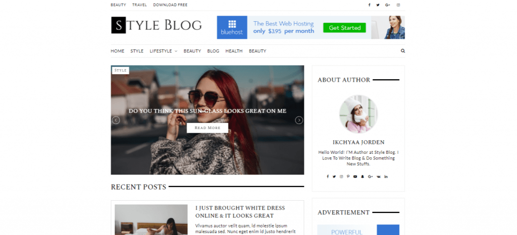 StyleBlog-best-free-blog-WordPress-themes-for-business-EverestThemes
