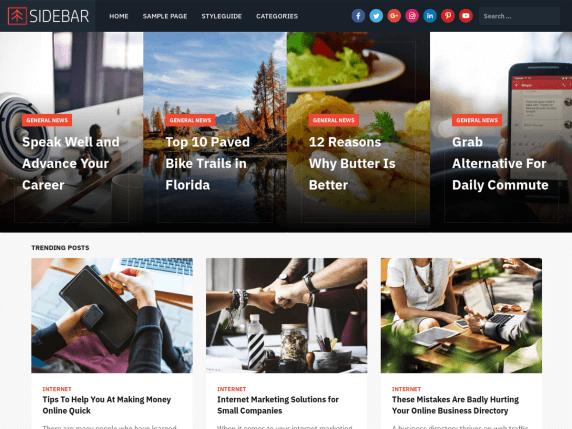 Sidebar-top-best-free-WordPress-themes-for-writers-EverestThemes