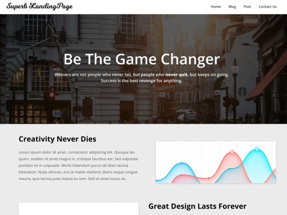 SuperbLandingpage-top-best-free-wordpress-themes-for-personal-blog-EverestThemes