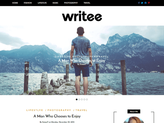 Writee-best-free-responsive-blog-WordPress-themes-EverestThemes