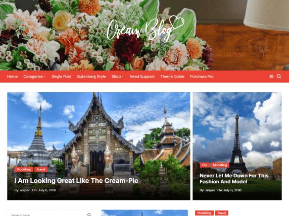 CreamBlog-best-free-blog-WordPress-themes-EverestThemes