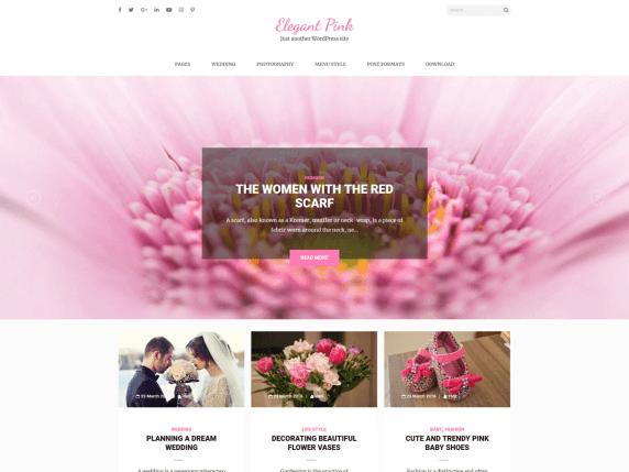 ElegantPink-top-free-WordPress-themes-for-blogs-EverestThemes
