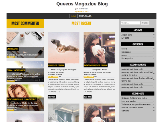 QueensMagazineBlog-best-free-responsive-blog-WordPress-themes-EverestThemes