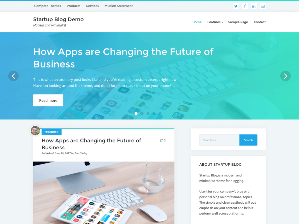 Startup-top-best-free-blog-WordPress-theme-EverestThemes