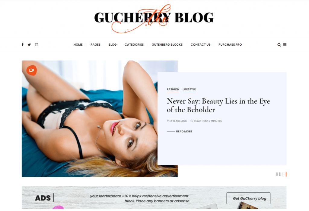 GuCherry-best-free-personal-blog-WordPress-themes-EverestThemes