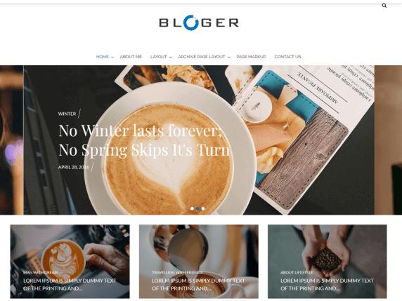 Bloger-best-free-blog-WordPress-theme-EverestThemes
