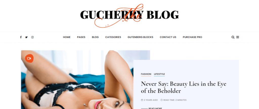 GucherryBlog-create-a-blogging-WordPress-webiste-EverestThemes