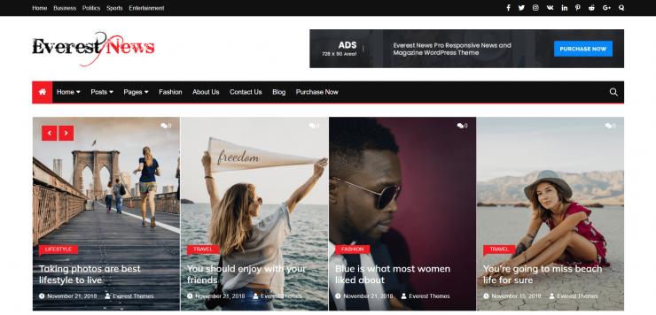 E-Newspapers -top-best-free-news-WordPress-themes-EverestThemes