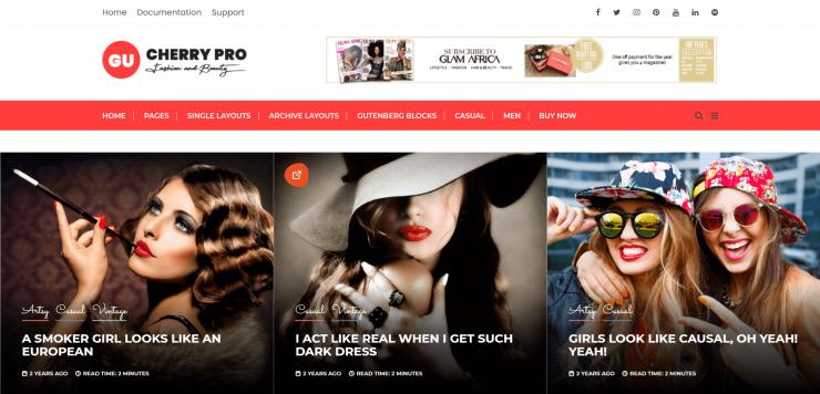 GuCherry-Fashion-best-free-blog-WordPress-theme-EverestThemes