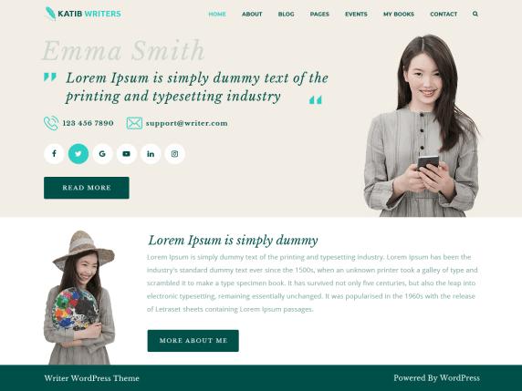 KatibWriters-top-best-free-WordPress-themes-for-Writers-EverestThemes