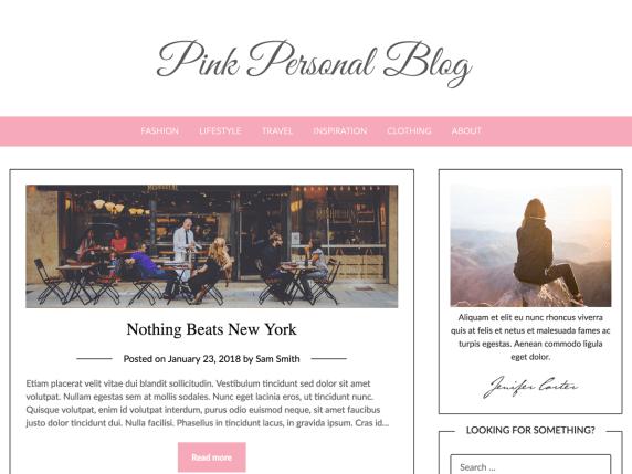Pink-Personal-Blog-WordPress-theme-best-free-WordPress-theme-EverestThemes