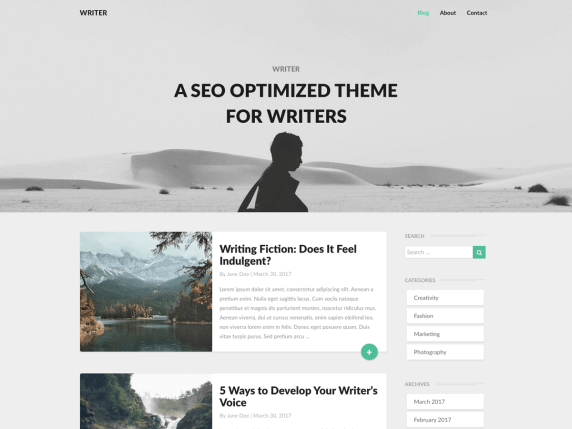Writers-top-best-free-WordPress-themes-for-writers-EverestThemes